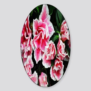 bright pink flower kindle Sticker (Oval)