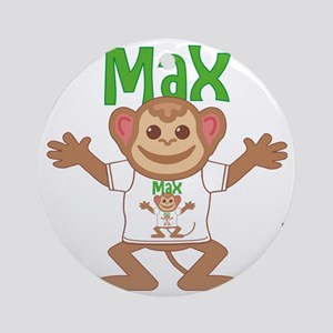 max-b-monkey Round Ornament