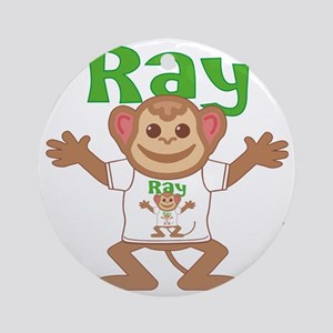 ray-b-monkey Round Ornament