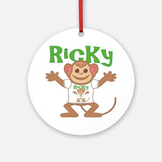 ricky-b-monkey Round Ornament