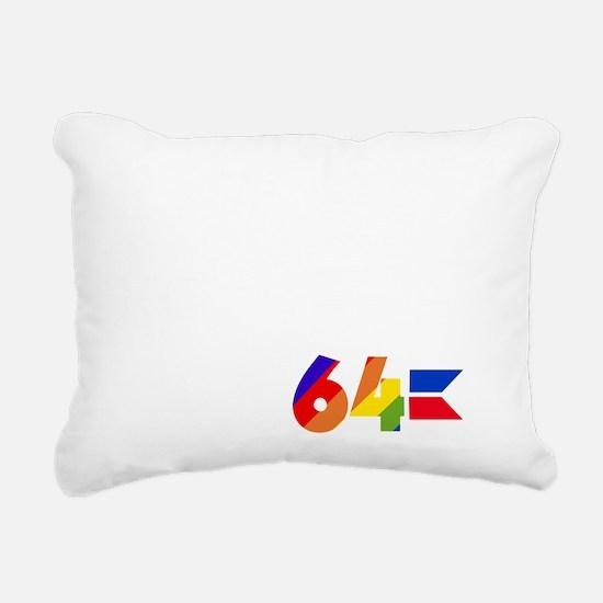 I Adore my 64 (dark item Rectangular Canvas Pillow