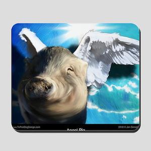 Angel-Pig-Large-Framed-Print Mousepad