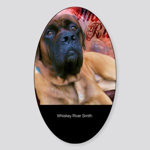 Whiskey-River-Large-Framed-Print-Ve Sticker (Oval)