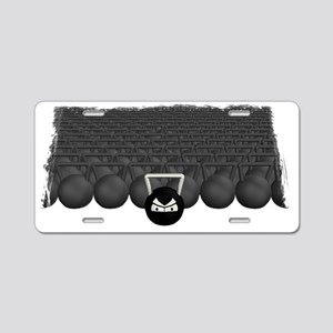 Kettlebell Army Aluminum License Plate