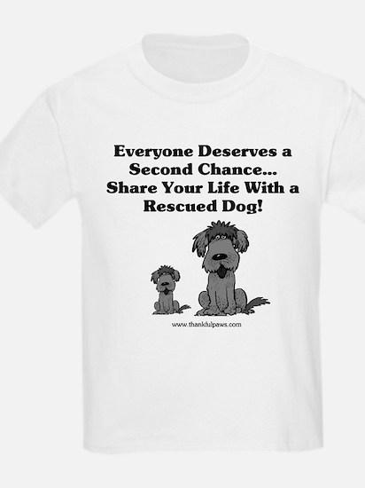 Everyone Deserves a Second Chance Kids T-Shirt