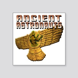 "Ancient Astros Wings Square Sticker 3"" x 3"""