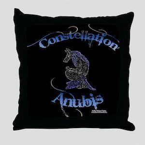 Constellation Anubis Throw Pillow