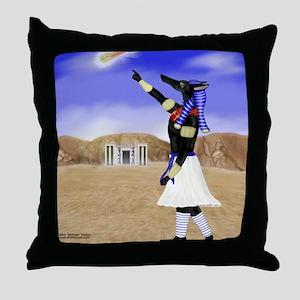 Anubis Skyward Throw Pillow