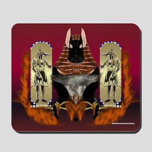 Anubis Flaming Mousepad