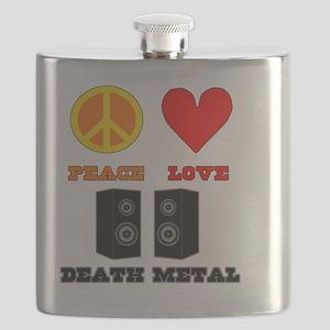 Peace Love Death Metal Flask