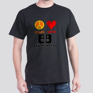 Peace Love Death Metal Dark T-Shirt