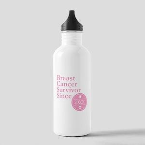 Breast Cancer Survivor Stainless Water Bottle 1.0L