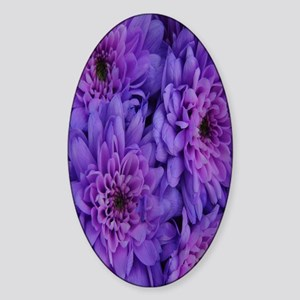 Pink-And-Purple-Flowers nook Sticker (Oval)