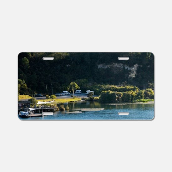 Power Boat Towing Hydrofoil Aluminum License Plate