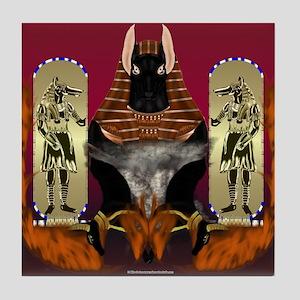 Anubis Flaming Tile Coaster
