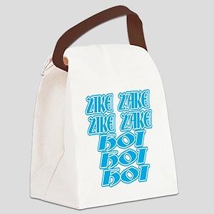 zike-zake-bw Canvas Lunch Bag