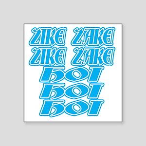 "zike-zake-bw Square Sticker 3"" x 3"""