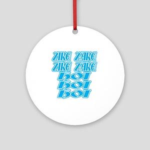 zike-zake-bw Round Ornament