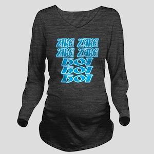 zike-zake-bw Long Sleeve Maternity T-Shirt
