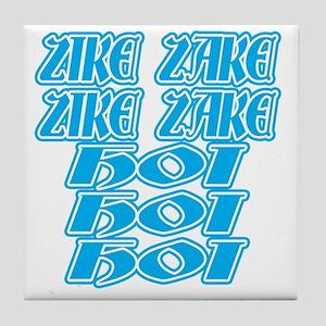 zike-zake-bw Tile Coaster