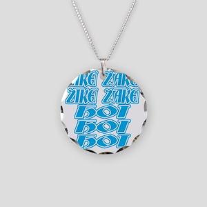 zike-zake-bw Necklace Circle Charm