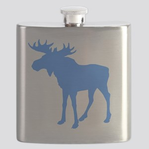 blueMOOSEshirt Flask
