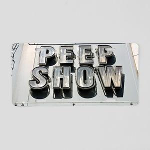 3924 Peep Show Aluminum License Plate
