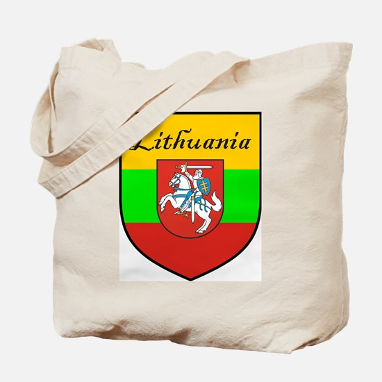 Lithuania Flag Crest Shield Tote Bag