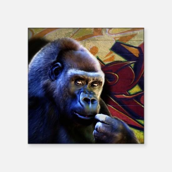 """Mousepad-Gorilla-TriPodDogD Square Sticker 3"""" x 3"""""""