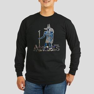 Anubis 3D Long Sleeve Dark T-Shirt