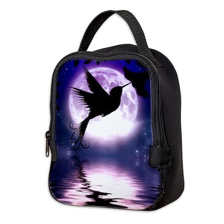 Moonlit Hummingbird Neoprene Lunch Bag