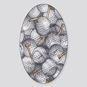 golfballs tees kindle Sticker (Oval)