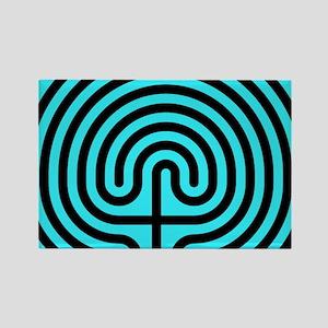 labyrinth Rectangle Magnet