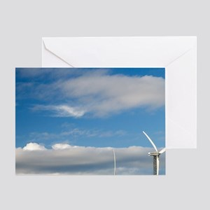 Tararua Wind Farm, Tararua Ranges, n Greeting Card