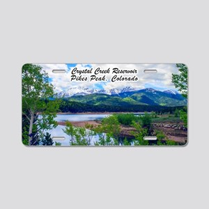 Crystal Creek Reservoir Aluminum License Plate
