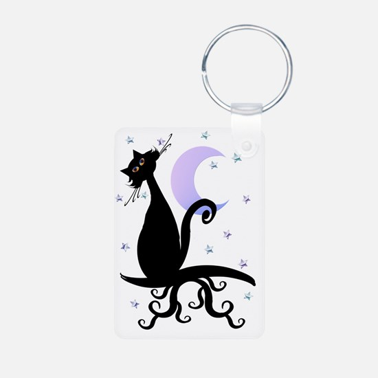 Black Midnighr Cat2 Trans Keychains