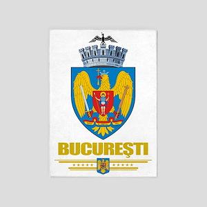 Bucharest COA (Flag 10) 5'x7'Area Rug