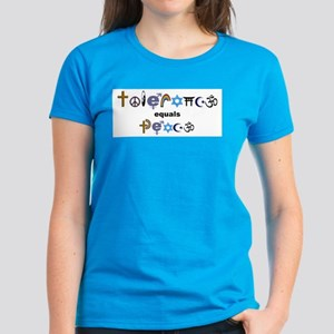 Tolerance = Peace  Women's Dark T-Shirt