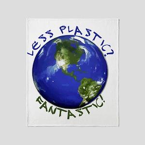 Less_Plastic Throw Blanket