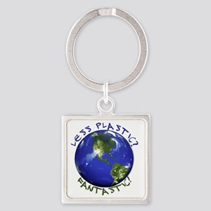 Less_Plastic Square Keychain