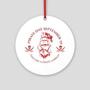 Pirate0E Round Ornament