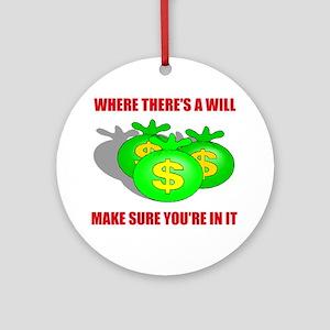 INHERIT MONEY Ornament (Round)