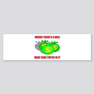 INHERIT MONEY Bumper Sticker