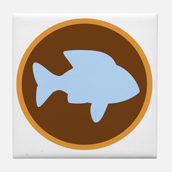 patch_fish Tile Coaster