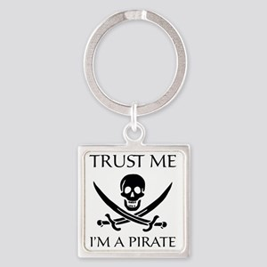 PirateTrust4 Square Keychain