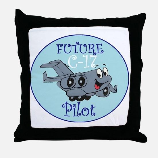 Mil 2A C17 Pilot M Throw Pillow