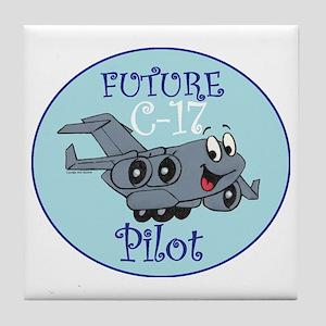 Mil 2A C17 Pilot M Tile Coaster