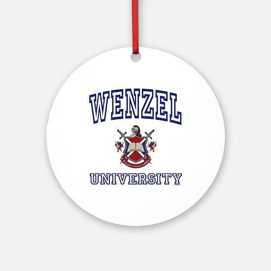 WENZEL University Ornament (Round)