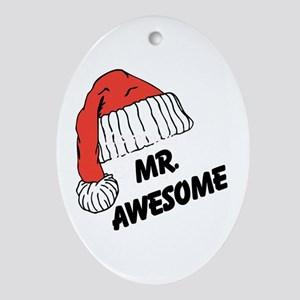 Mr. Awesome Ornament (Oval)