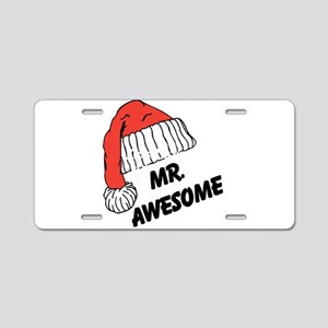 Mr. Awesome Aluminum License Plate